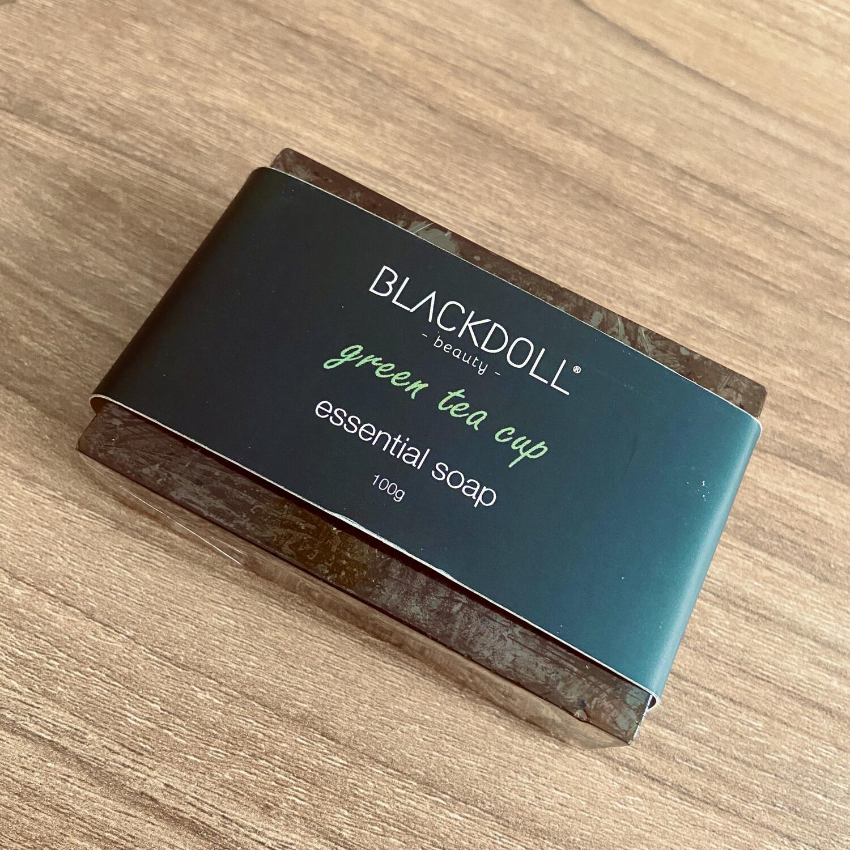 Jabón Esencial de Té Verde/Essencial Soap Green Tea Cup Antioxidante- BLACKDOLL BEAUTY