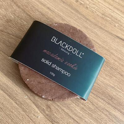 Shampoo Sólido de Nuez de Macadamia/Solid Shampoo Macadamia Cookie para Cabello Graso, Anticaida - BLACKDOLL BEAUTY