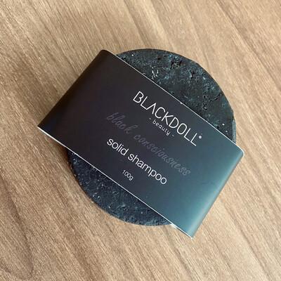 Shampoo Sólido de Carbón/Solid Shampoo Black Consciousness para Cabello Graso, Anticaspa, Desintoxicante - BLACKDOLL BEAUTY