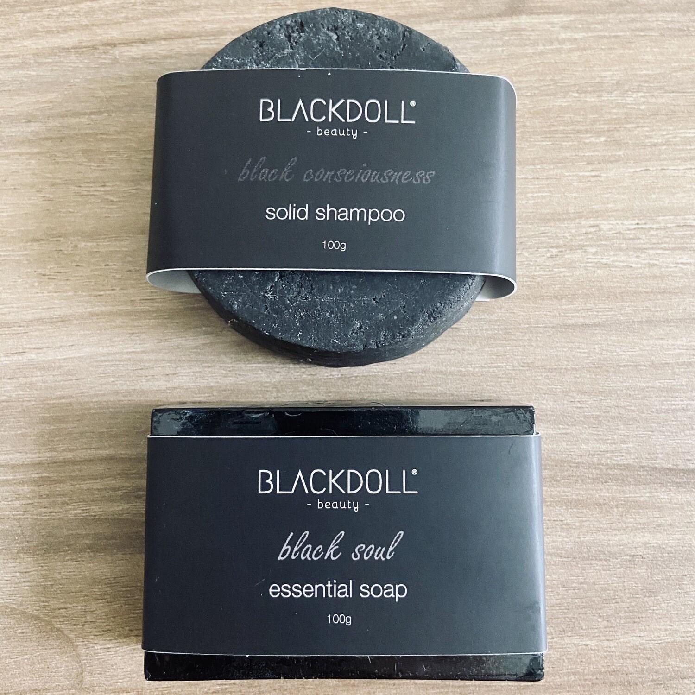 Kit de Carbón Shampoo Sólido+Jabón Esencial - BLACKDOLL BEAUTY