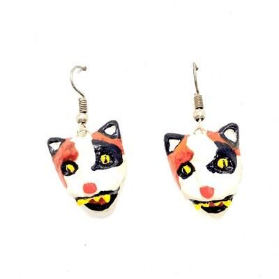 Aretes Máscara Gato - BLACKDOLL ACCESORIES