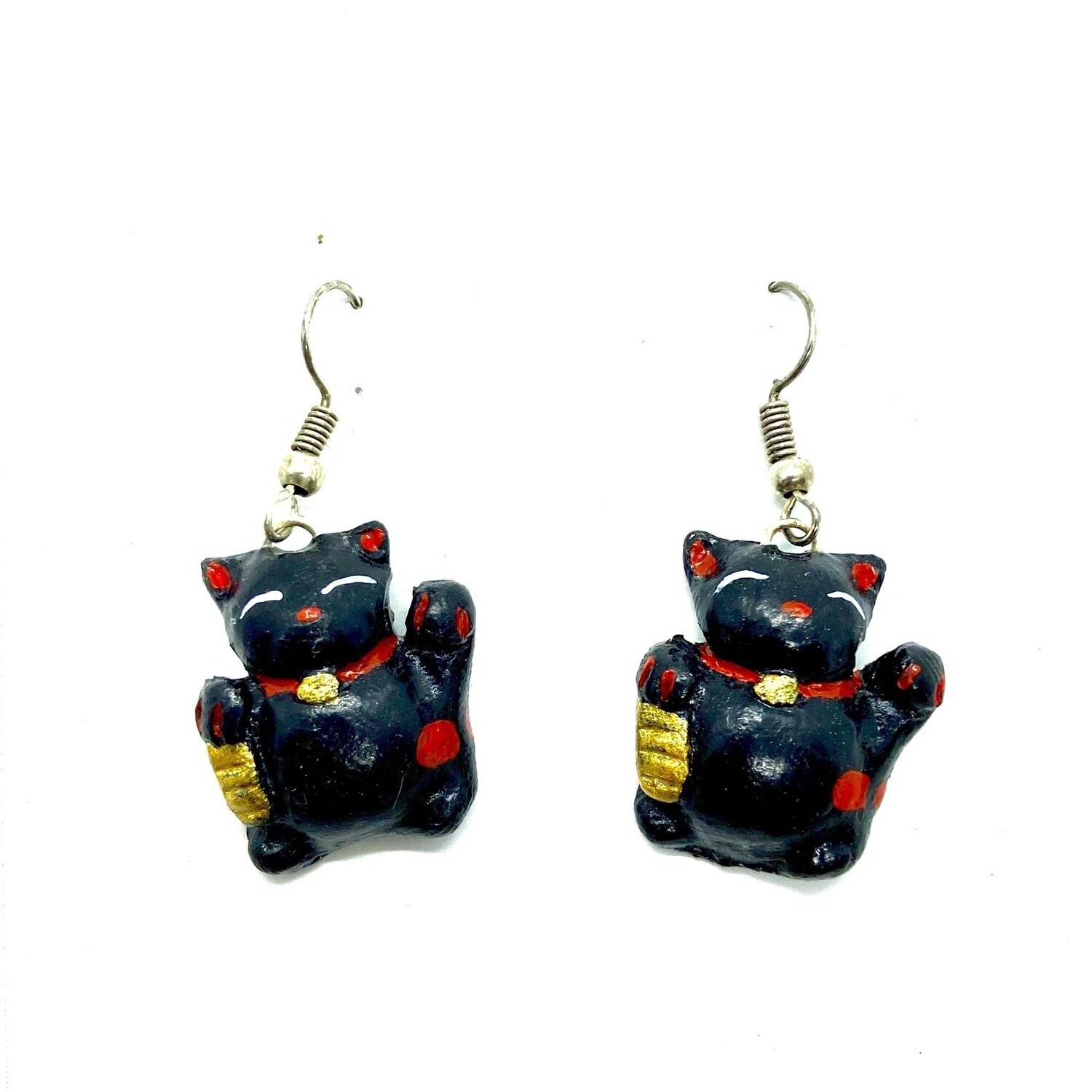 Aretes Lucky Cat - BLACKDOLL ACCESORIES