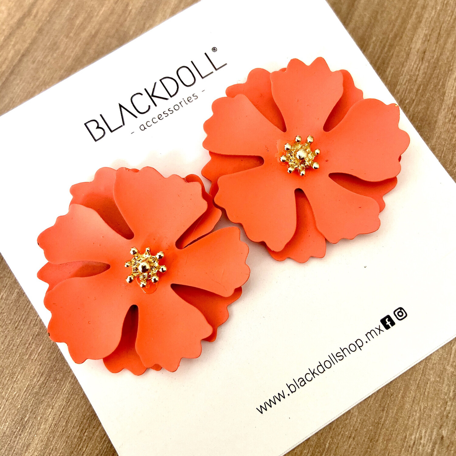 Big Orange Flower - BLACKDOLL ACCESORIES