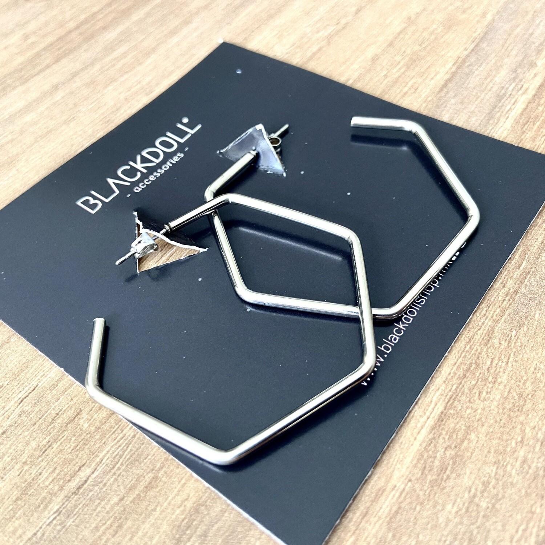 Hexagonal Hoops Acero Inoxidable  - BLACKDOLL ACCESSORIES