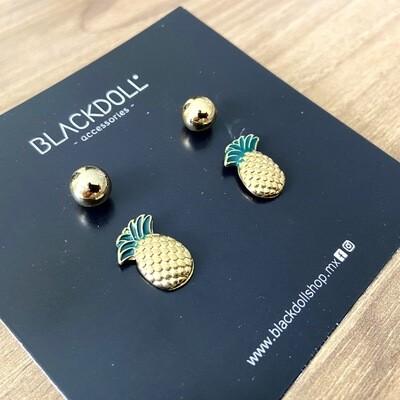 Pineapple Earrings  - BLACKDOLL ACCESSORIES