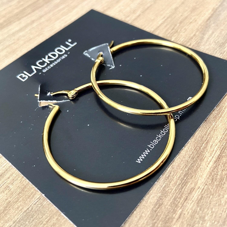 Simple Hoop Acero Inoxidable  - BLACKDOLL ACCESSORIES