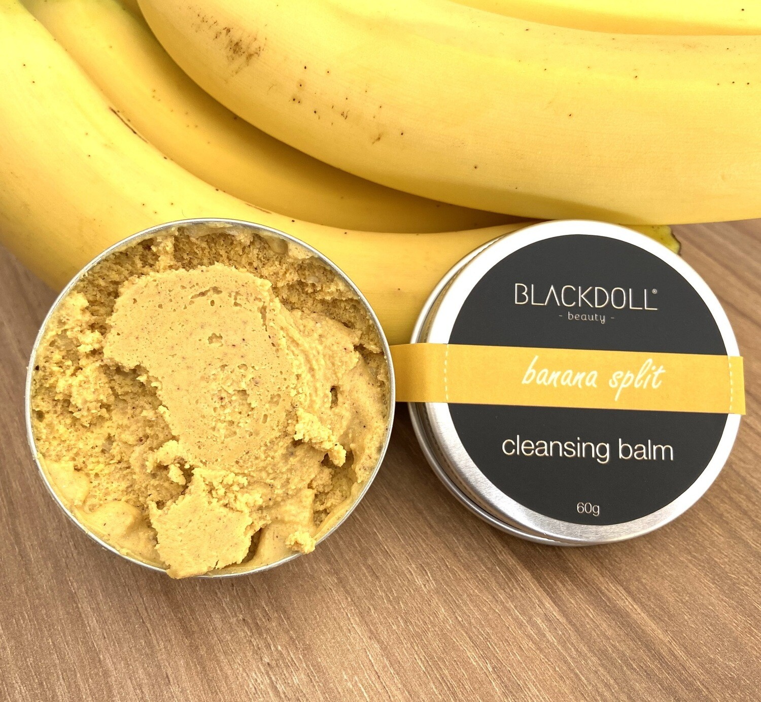 Bálsamo Limpiador Exfoliante de Plátano / Cleansing Balm Banana Split - BLACKDOLL BEAUTY