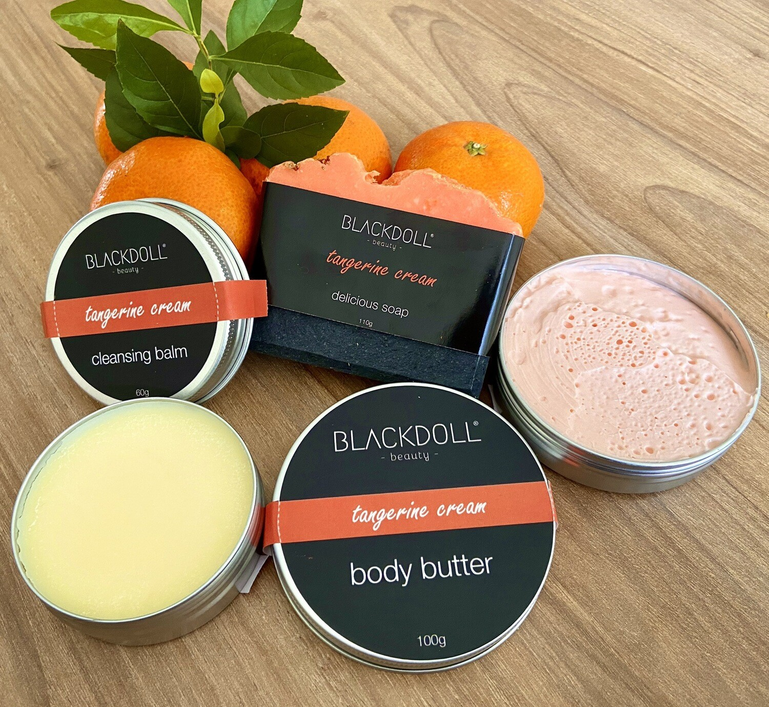 Kit de Mandarina/Tangerine Cream - BLACKDOLL BEAUTY