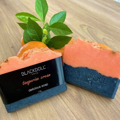 Jabón Delicioso de Mandarina / Delicious Soap Tangerine Cream - BLACKDOLL BEAUTY