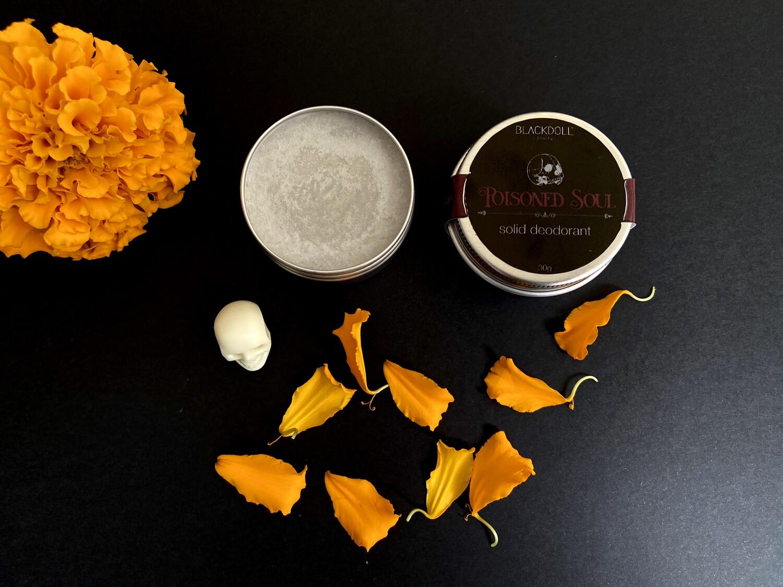 Poisoned Soul Solid Deodorant / Desodorante Sólido de Incienso y Sándalo - BLACKDOLL BEAUTY