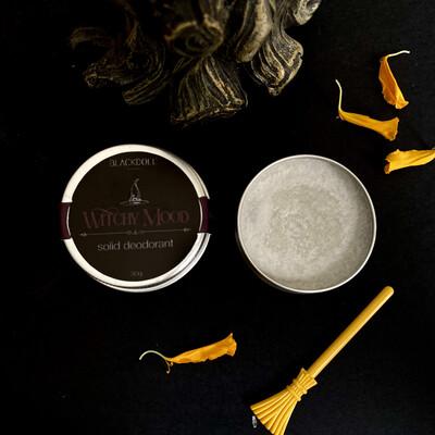 Witchy Mood Solid Deodorant / Desodorante Sólido de Vainilla, Cedro y Canela - BLACKDOLL BEAUTY