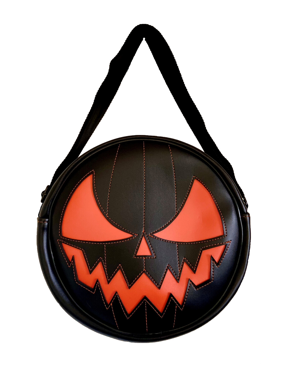 Pumpkin Black Crossbody - HORROR BAGS