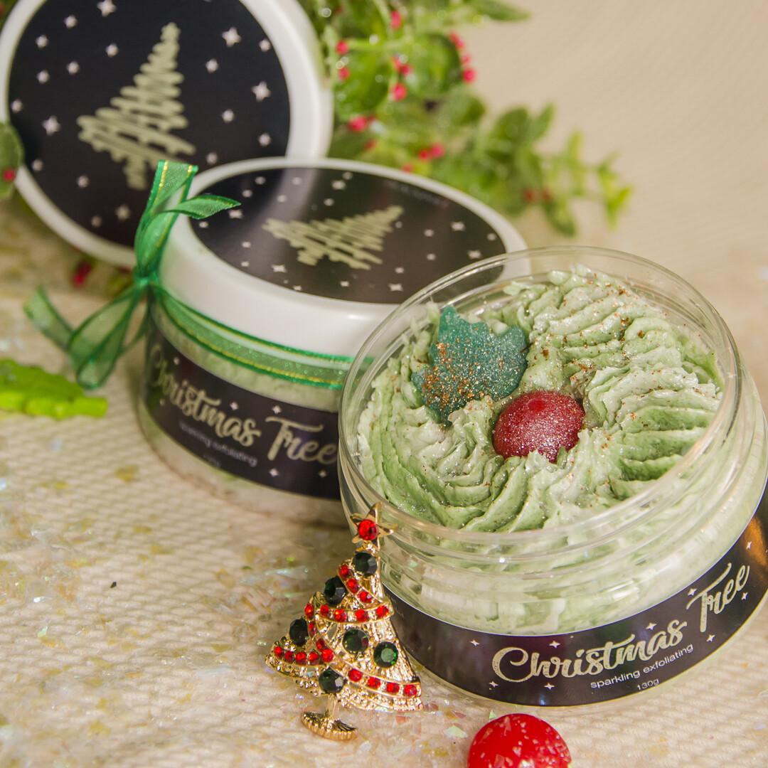 Sparkling Exfoliating Christmas Tree / Exfoliante Espumoso Árbol de Navidad - BLACKDOLL BEAUTY