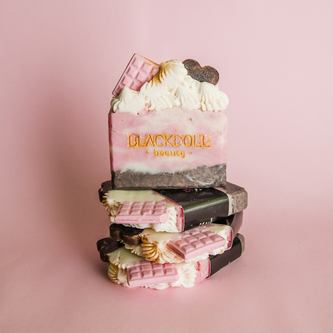 "Jabón Delicioso de Fresas Champagne ""Colección de San Valentín"" - BLACKDOLL BEAUTY"
