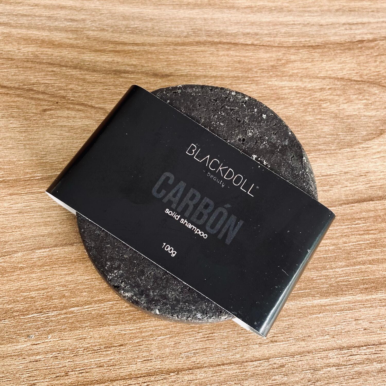 Shampoo Sólido de Carbón / Solid Shampoo Black Consciousness para Cabello Graso, Anticaspa, Desintoxicante - BLACKDOLL BEAUTY