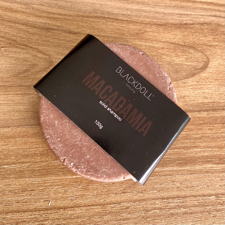 Solid Shampoo   Shampoo Sólido de Nuez de Macadamia Para Cabello Graso, Anticaida - BLACKDOLL BEAUTY