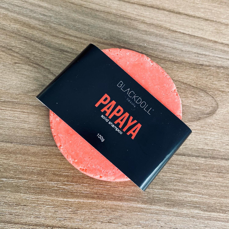 Solid Shampoo | Shampoo Sólido de Papaya Para Todo Tipo de Cabello, Repara, Nutre y Controla la Grasa
