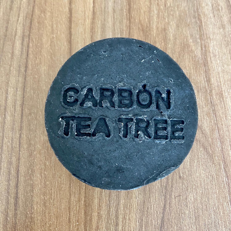 Jabón de Carbón Activado con Arbol de Té 120grs - THE GREEN WITCH