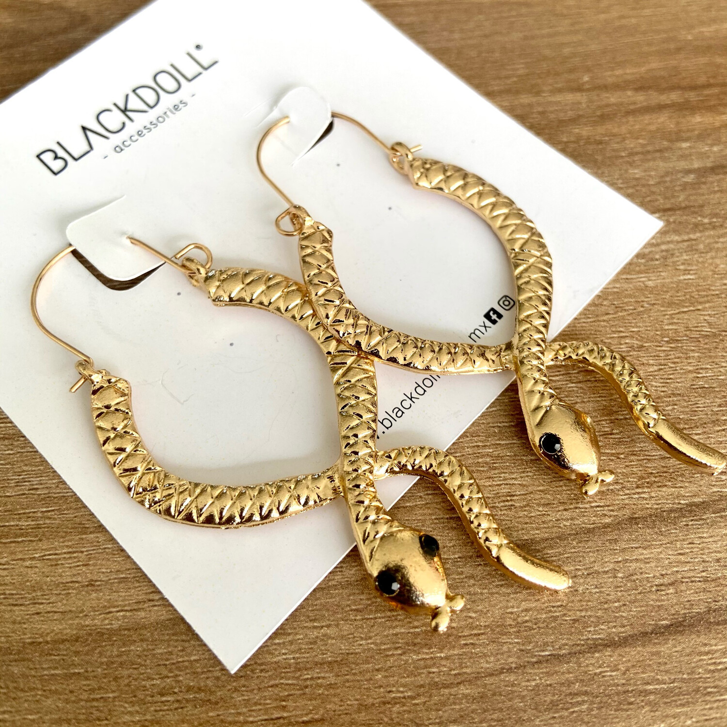 Snake Earrings - BLACKDOLL ACCESSORIES