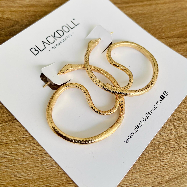 Circle Snake Earrings - BLACKDOLL ACCESSORIES