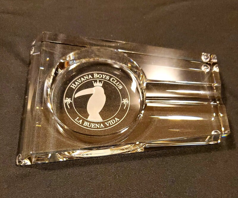 Crystal Rectangle Cigar Ashtray