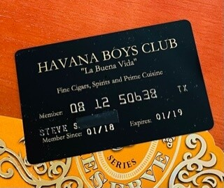 Havana Boys Club Black Card (1 year membership)
