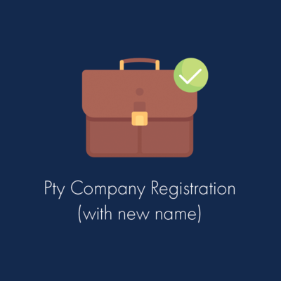 Pty Company Registration (with New Name)