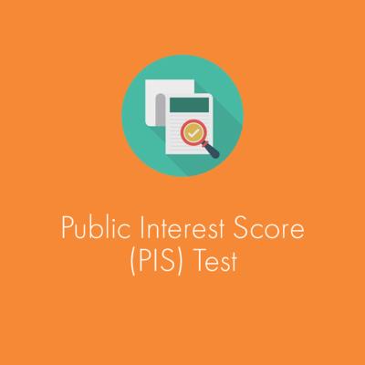 Public Interest Score (PIS) Test Tool