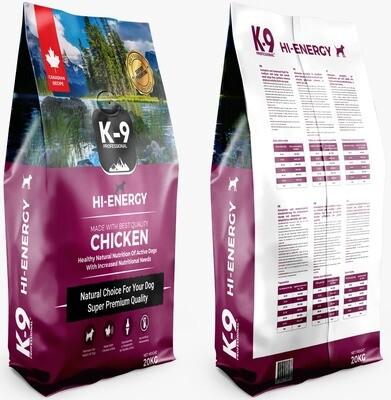 K-9 Professional Hi- Energy 20 kg