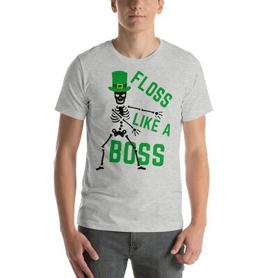 Floss Like A Boss Short-Sleeve Unisex Saint Patrick's T-shirt