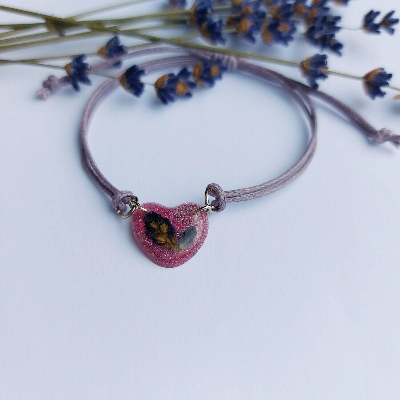 Cvetlična mineralna zapestnica SIVKA - vijolična