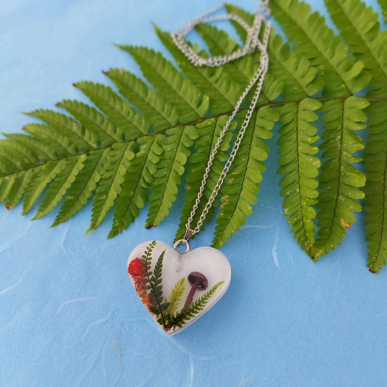 Cvetlično mineralna ogrlica GOZDNA PRAVLJICA 5