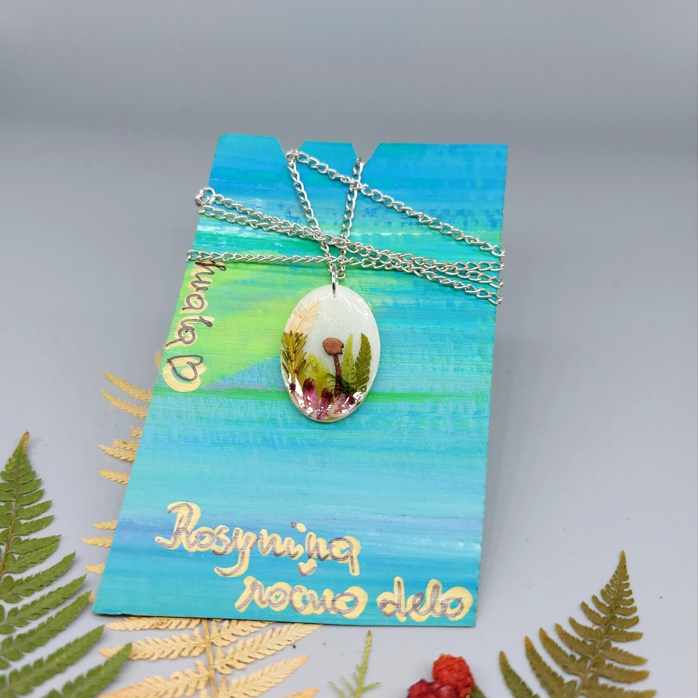 Cvetlično mineralna ogrlica GOZDNA PRAVLJICA 2