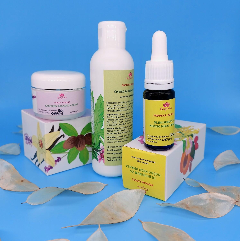 Čistilno negovalni paket obremenjene in problematične kože
