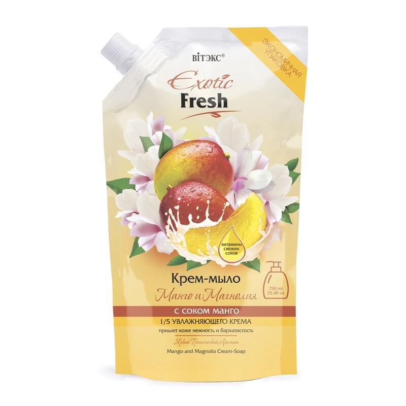 Витэкс | Exotic Fresh Крем-мыло | Манго и Магнолия, дой-пак, 750 мл
