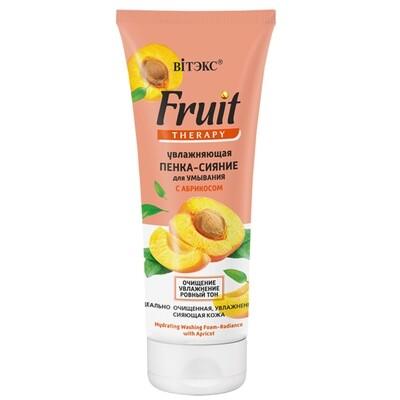 FRUIT Therapy для лица | Витэкс |  ПЕНКА-СИЯНИЕ Увлажняющая для умывания с абрикосами, 200 мл