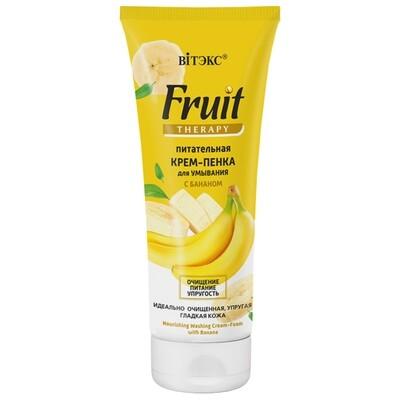 FRUIT Therapy для лица | Витэкс |  КРЕМ-ПЕНКА Питательная для умывания с бананом, 200 мл