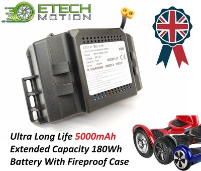 Extended Long Life Hoverboard Battery 36v 5Ah 5000mAh 180Wh