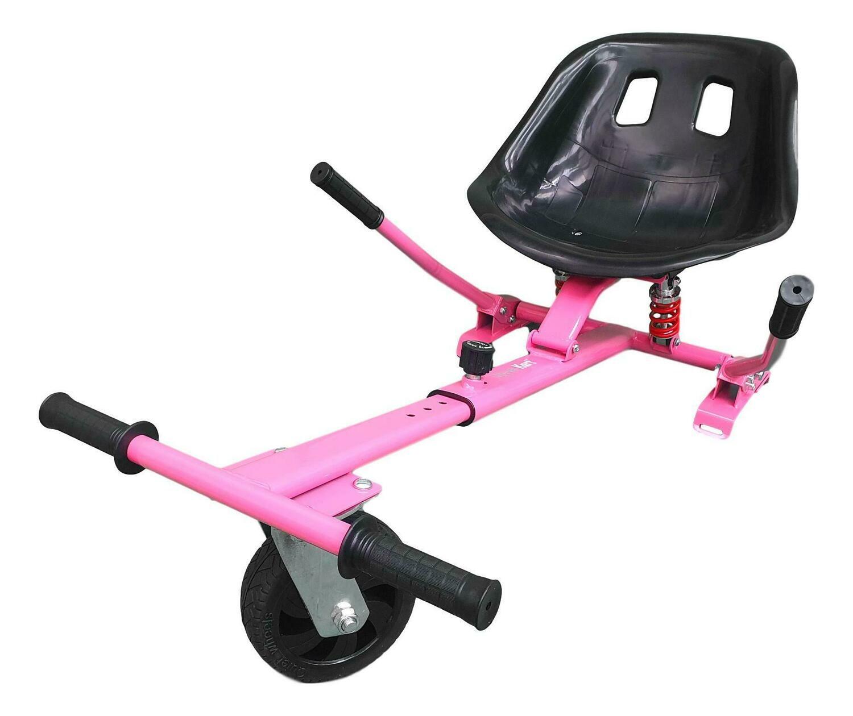 Pink Black Hover Kart Go Kart Conversion Kit with Dual Suspension and Off Road Wheel - HK8 Pink Black