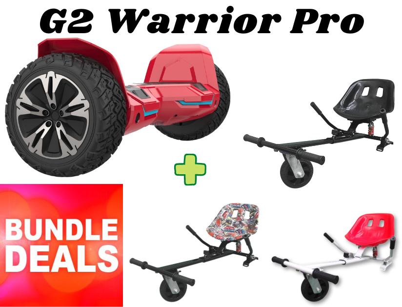 "RED G2 WARRIOR PRO 8.5"" with Dual Suspension HK8 HoverKart Bundle Deal"