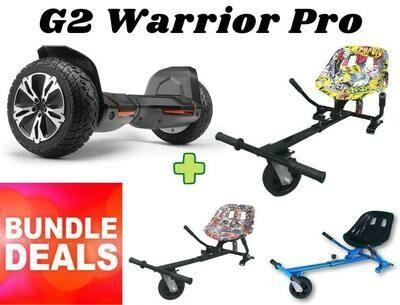 """BLACK G2 WARRIOR PRO 8.5"""" with Dual Suspension HK8 HoverKart Bundle Deal"""