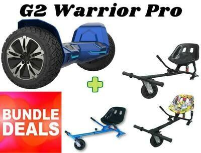 """BLUE G2 WARRIOR PRO 8.5"""" with Dual Suspension HK8 HoverKart Bundle Deal"""