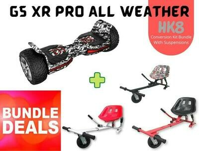 "CAMOUFLAGE G5 XR PRO 8.5"" with HK8 Dual Suspension HoverKart Bundle Deal"