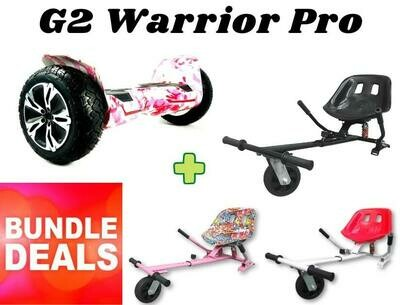 "CAMO PINK G2 WARRIOR PRO 8.5"" with Dual Suspension HK8 HoverKart Bundle Deal"