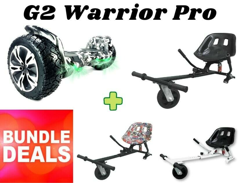 "CAMOUFLAGE G2 WARRIOR PRO 8.5"" with Dual Suspension HK8 HoverKart Bundle Deal"