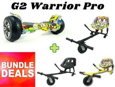 """HIP HOP G2 WARRIOR PRO 8.5"""" with HK8 Dual Suspension HoverKart Bundle Deal"""