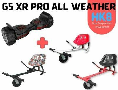 """BLACK G5 XR PRO 8.5"""" with HK8 Dual Suspension HoverKart Bundle Deal"""