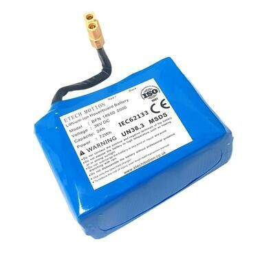 Replacement Battery For Zinc Hoverboard 36v 2Ah 2000mAh 72Wh