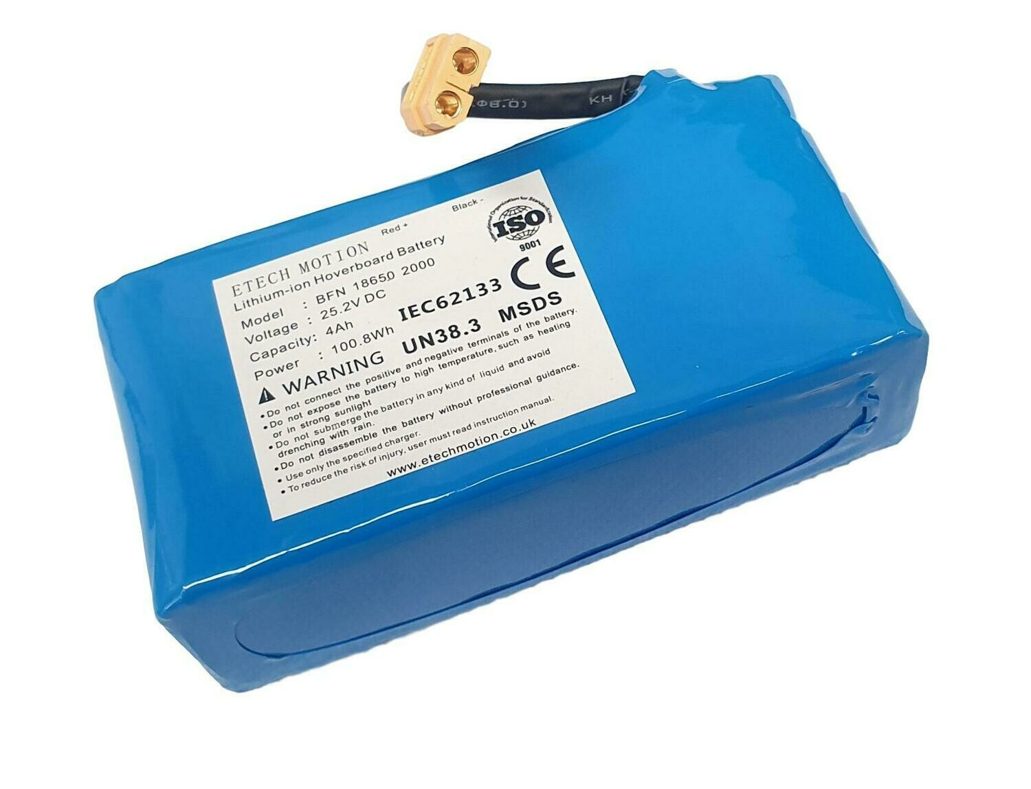 Replacement Battery For Hoverboard or Other DC Device 25.2v 4Ah 4000mAh 100.8Wh