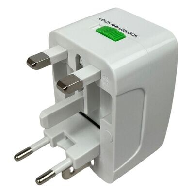 Universal Travel Adaptor Plug Wall Charger with UK/USA/EU/AUS Worldwide Travel Charger Adapter for Electric Scooter, eBike, iPhone, iPad, Android, Tablets and More
